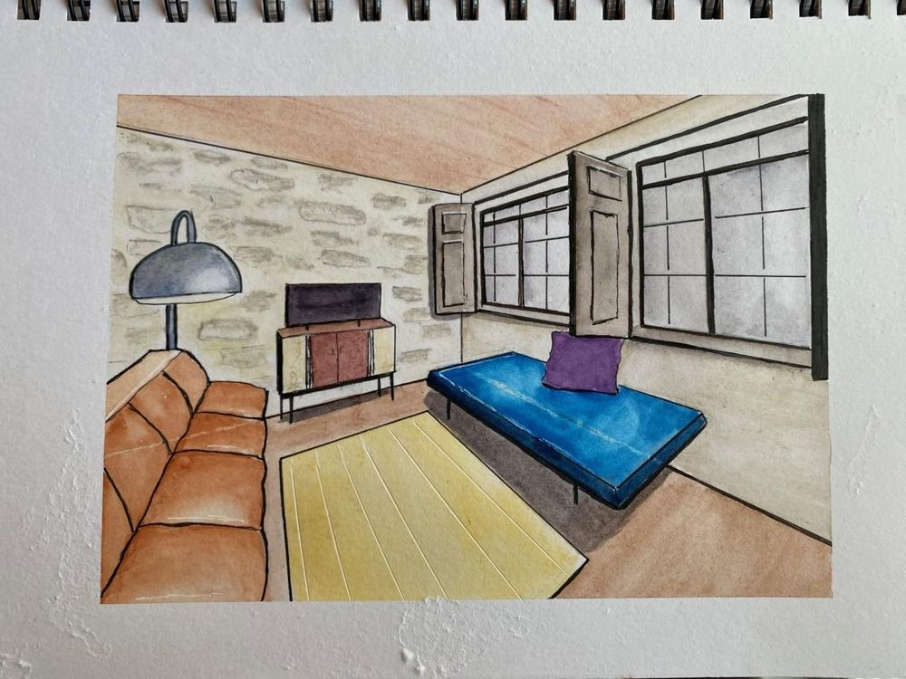 Interiors with Two-Point Perspective - image 1 - student project