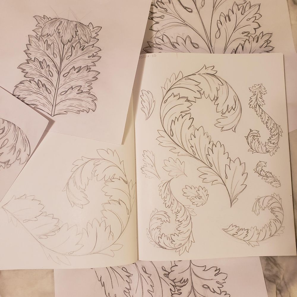 Acanthus Leaf Project - image 3 - student project