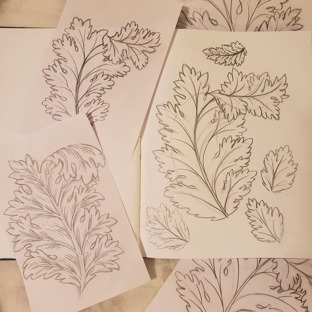 Acanthus Leaf Project - image 2 - student project