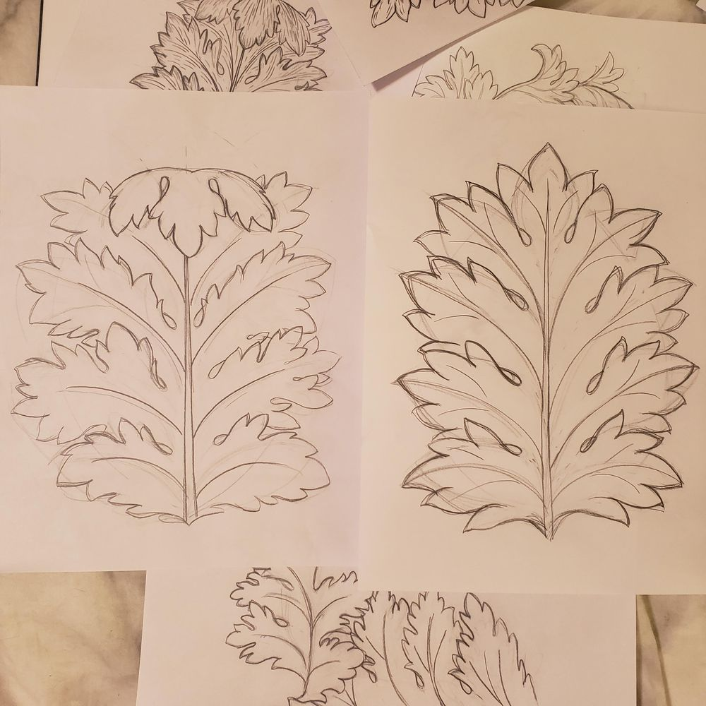 Acanthus Leaf Project - image 1 - student project