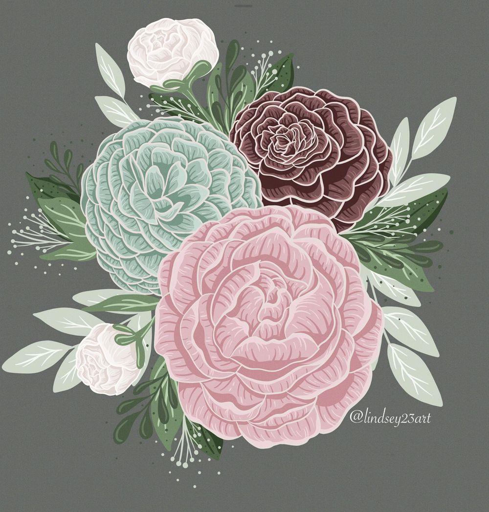 Floral Illustration - image 2 - student project
