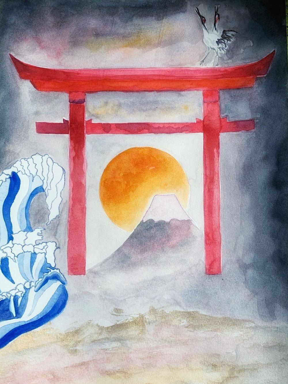 mystical japan landscape - image 4 - student project