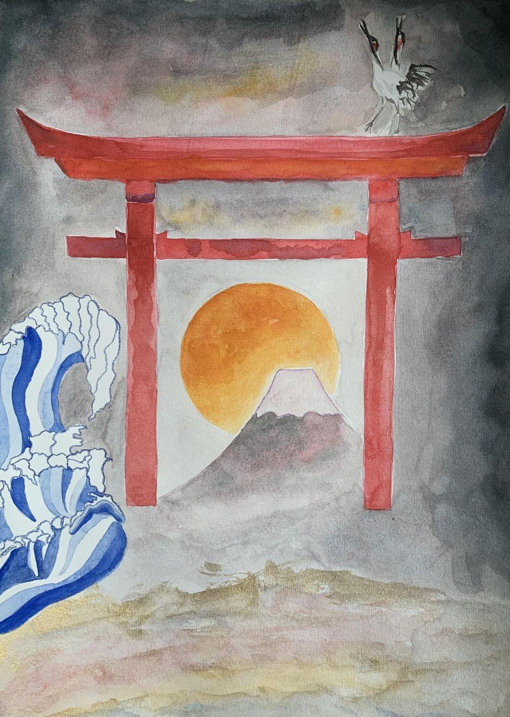 mystical japan landscape - image 3 - student project