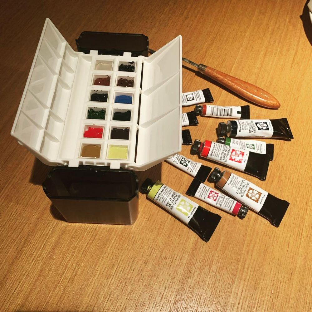 Granulating James Smith portable palette - image 2 - student project