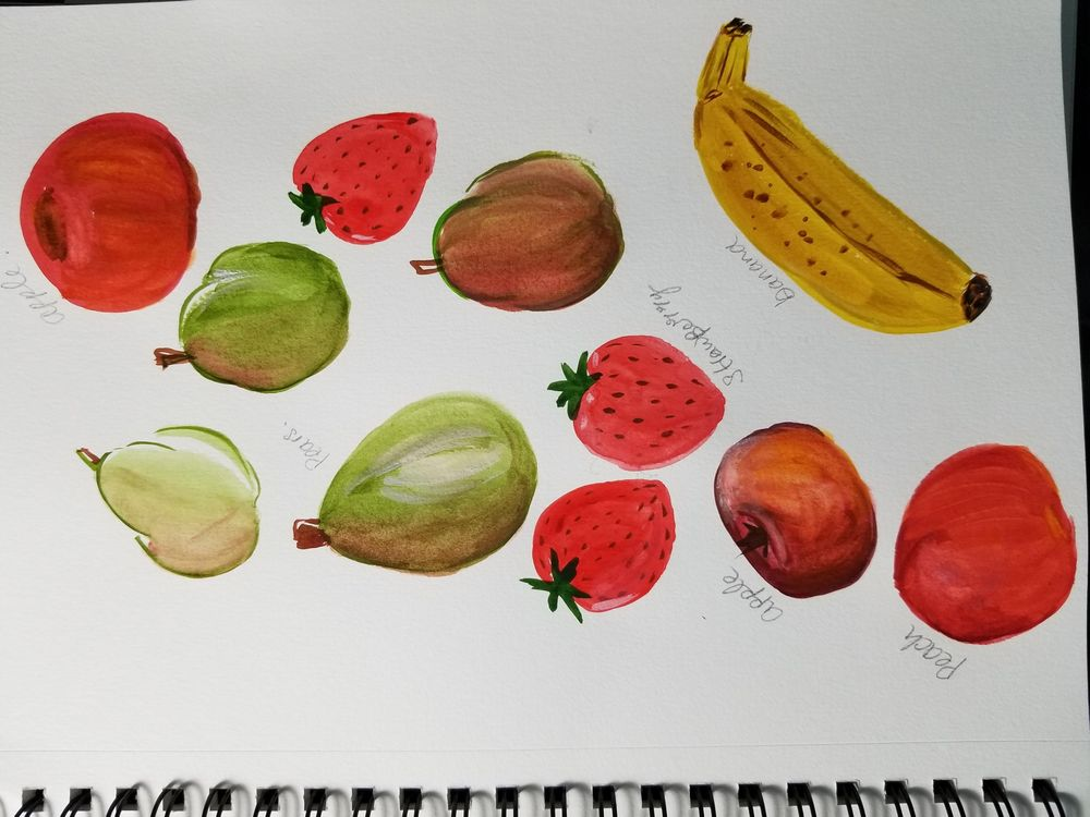 Fruits in Gouache - image 2 - student project