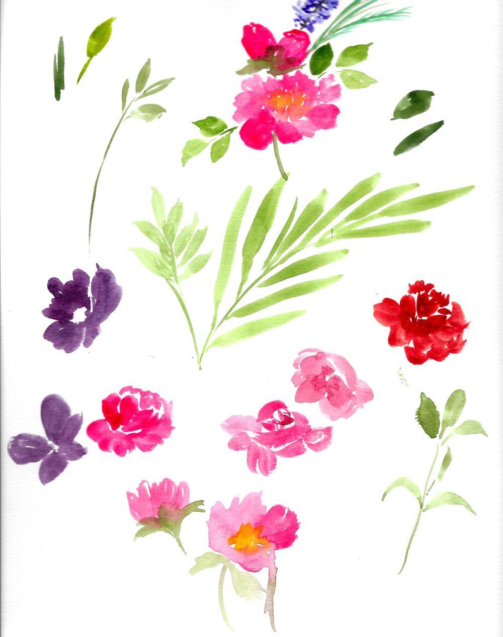 Watercolor Floral Arrangement - image 4 - student project