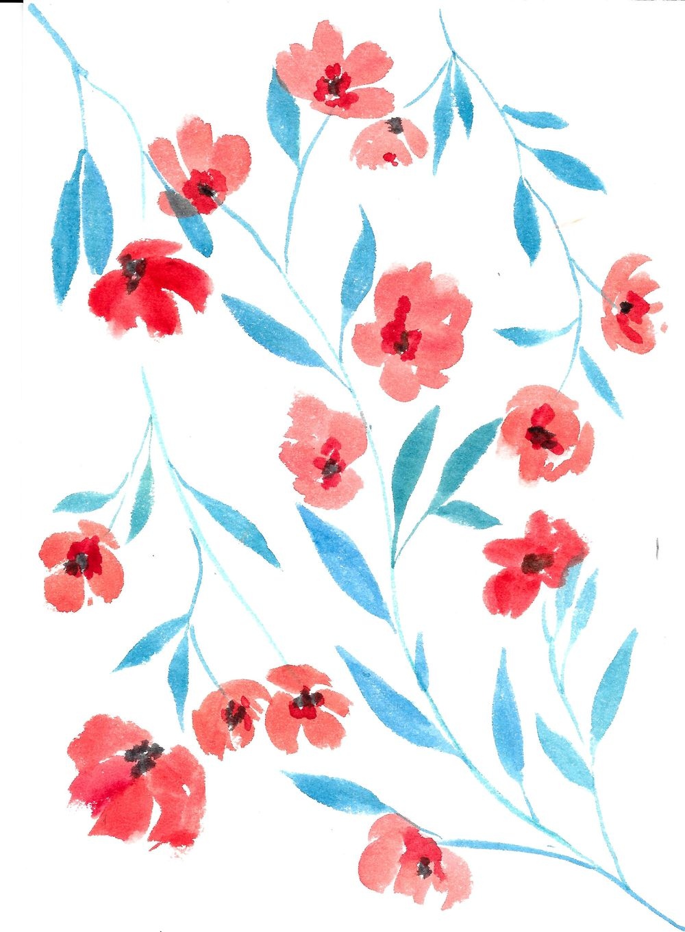 Painterly Floral - image 1 - student project