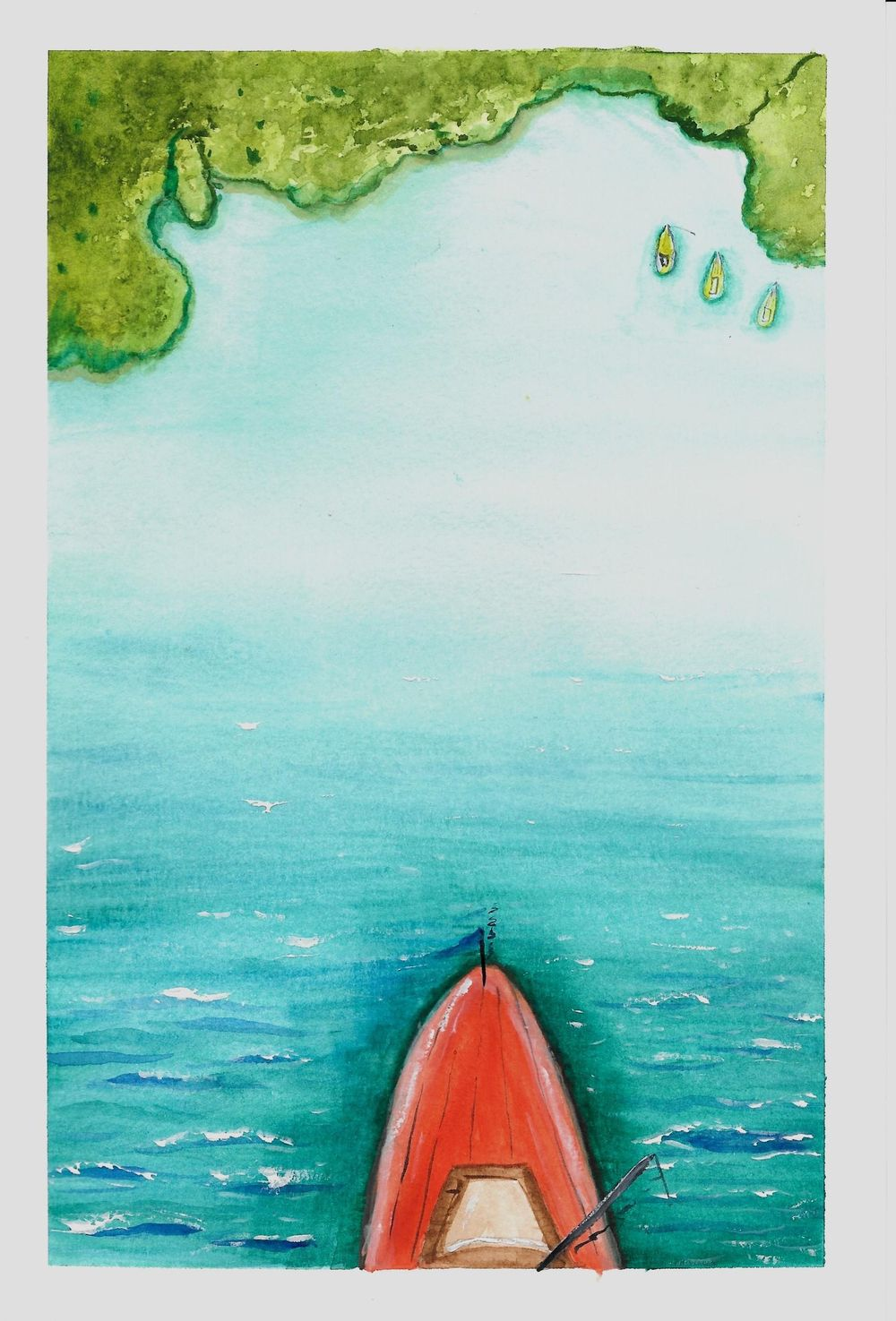 Watercolor Seascape & Boats - image 2 - student project