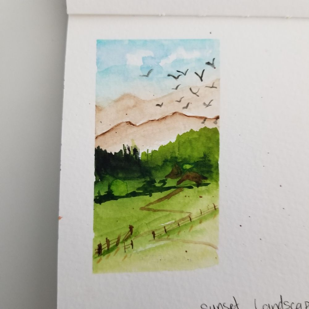 Quick & Easy Watercolor Landscape - image 1 - student project