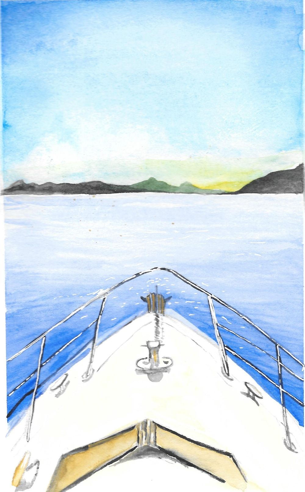 Watercolor Seascape & Boats - image 4 - student project