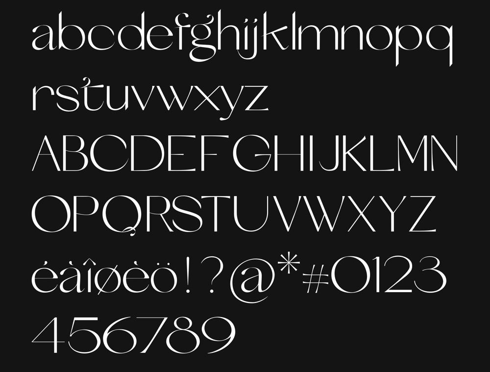 Etoile typeface - image 1 - student project
