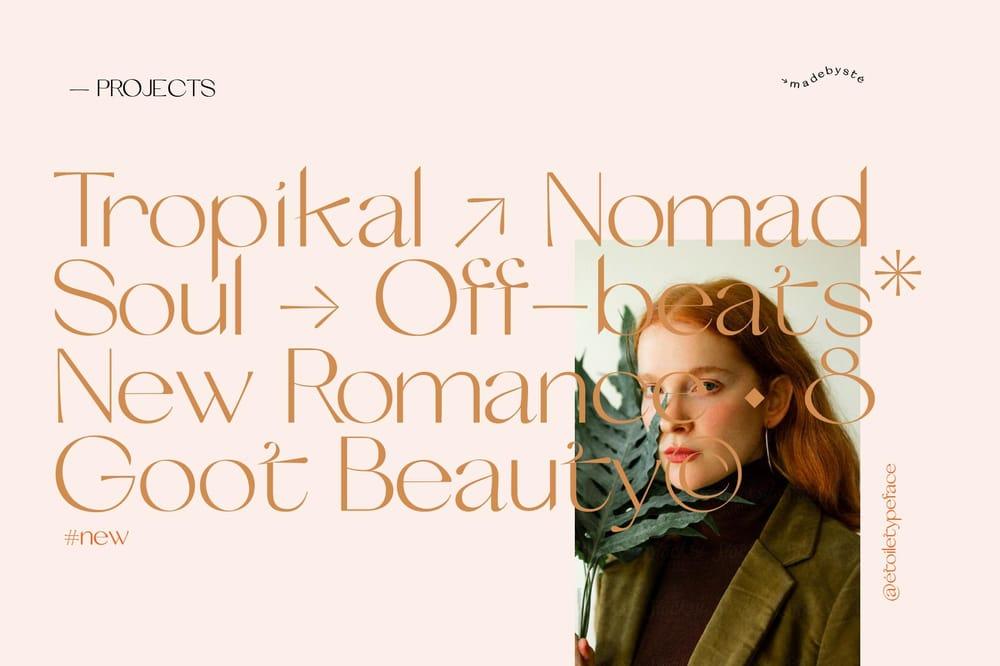 Etoile typeface - image 2 - student project