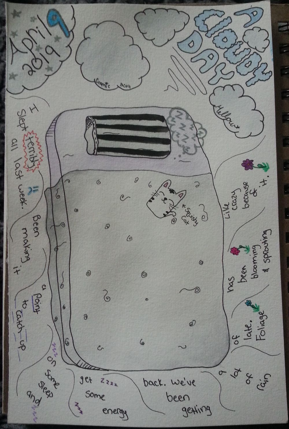 Draw Your Day w/ Watercolor & Pen Project - image 1 - student project