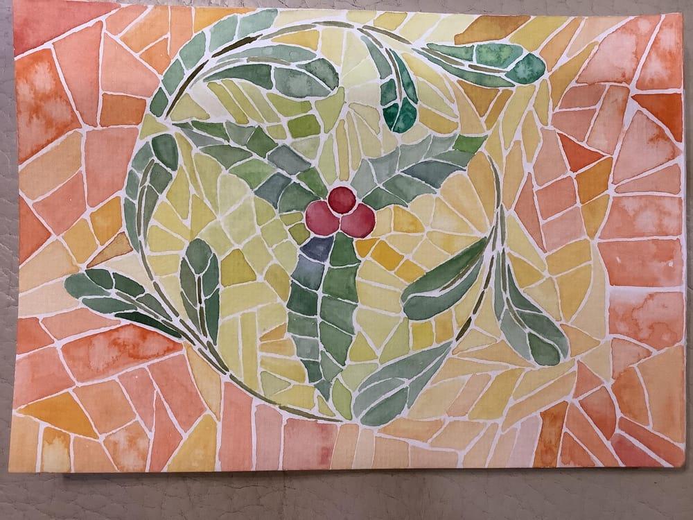 Christmas mosaic - image 1 - student project