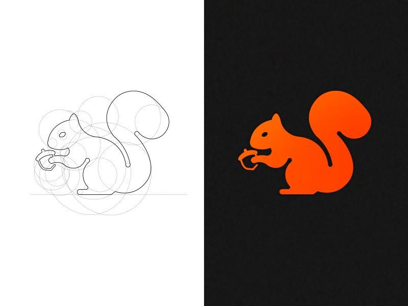 Squirrel Logo Mark  - image 1 - student project