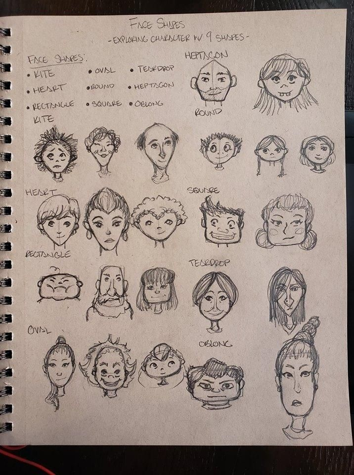 9 Face Shapes in an Hour - image 1 - student project