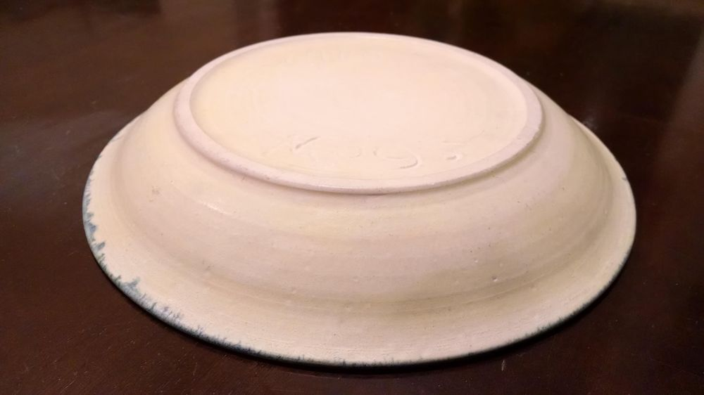 Pottery Plate Thrown and Trimmed on the Wheel - image 1 - student project