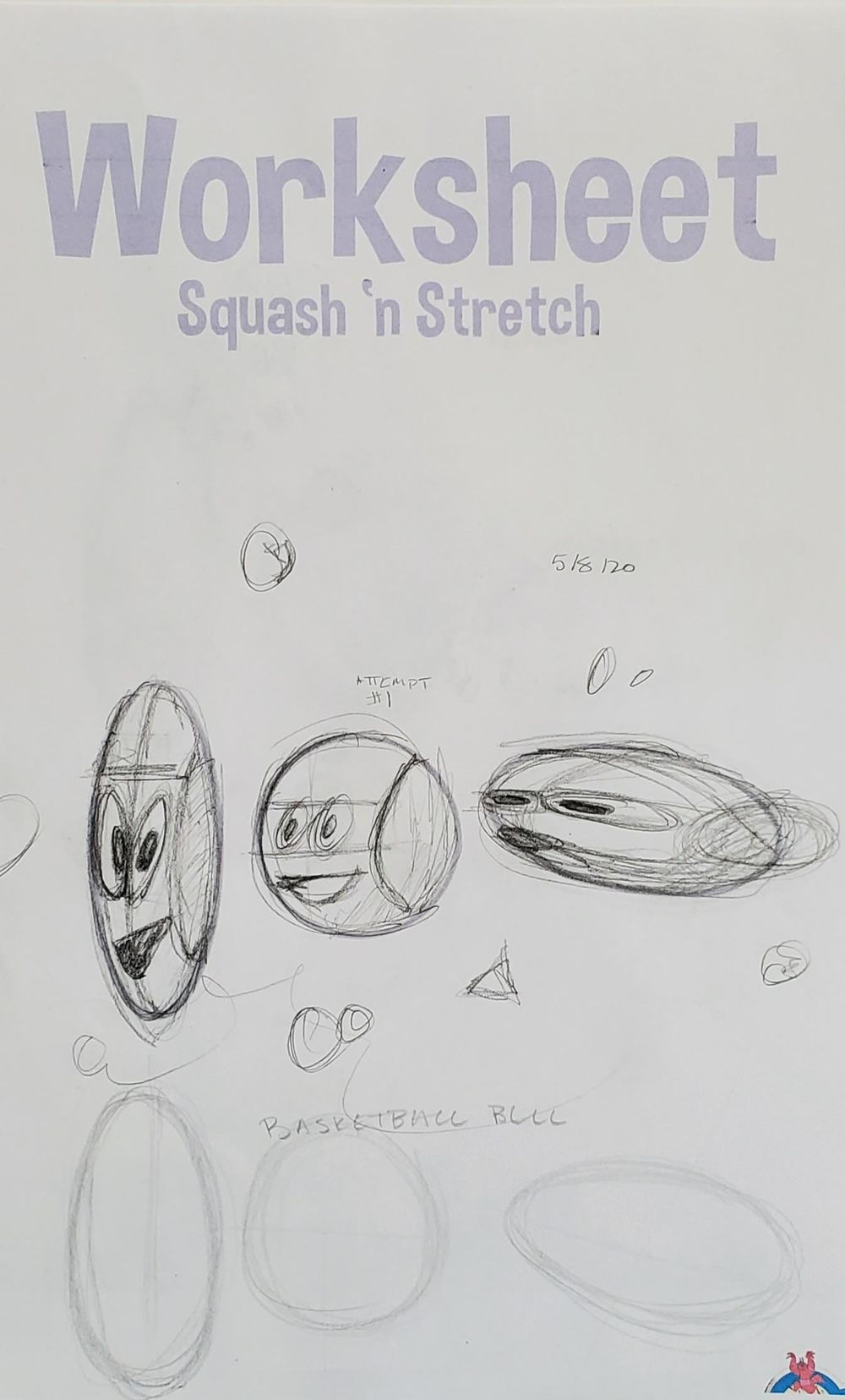 Squash and Stretch Worksheet - image 2 - student project
