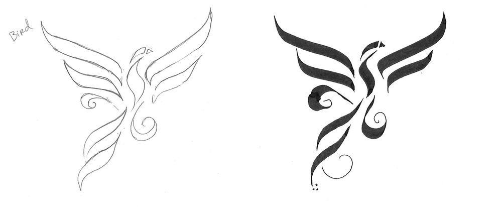 Great Gothic Boot Camp Challenge: Calligraphy Stroke Tatoo + Sketches and Exploration + Exercises - image 6 - student project