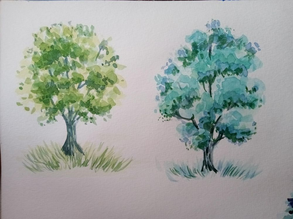 Watercolour Greenery: How to Paint Trees - image 1 - student project