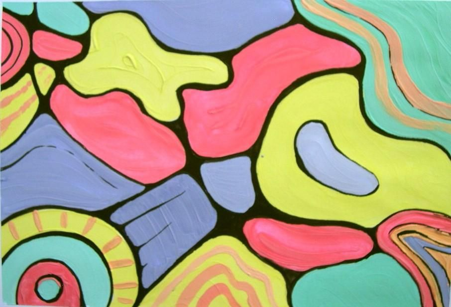 Create an Abstract Painting with Acrylic Paints - image 1 - student project