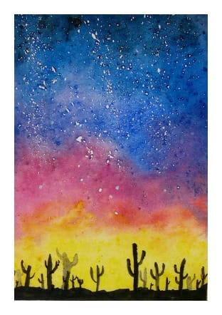 Fun and Easy Watercolour Galaxies - image 2 - student project