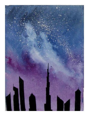 Fun and Easy Watercolour Galaxies - image 1 - student project