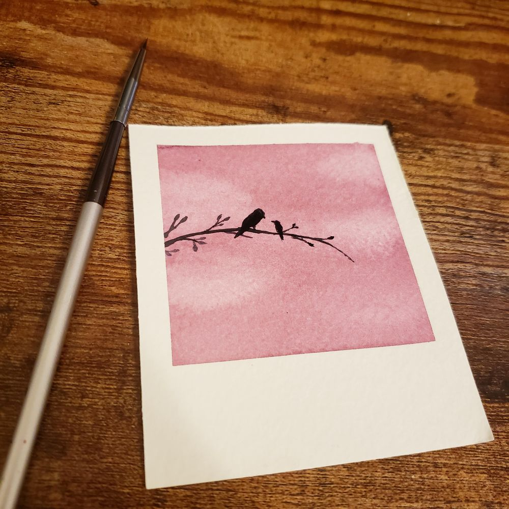 Watercolor Silhouettes - image 2 - student project