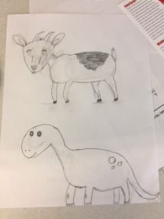 Goat and Dino - image 1 - student project