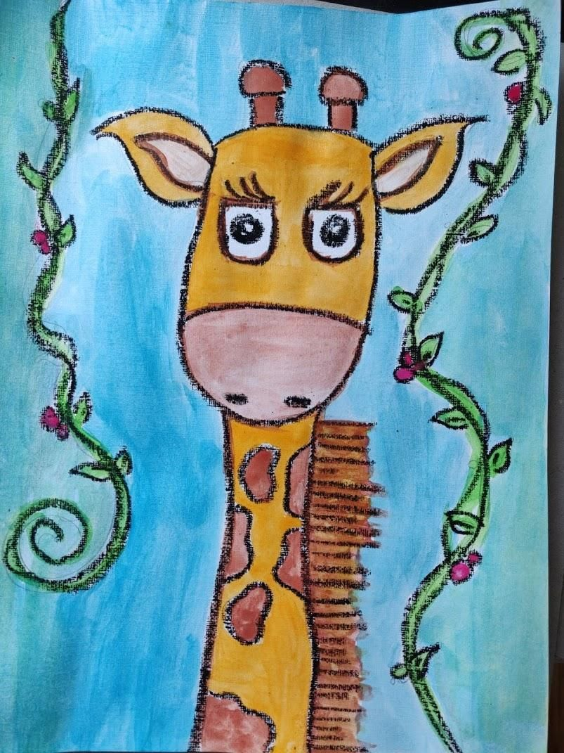 Rainbow Giraffe by my child Nada (7 years old) - image 2 - student project