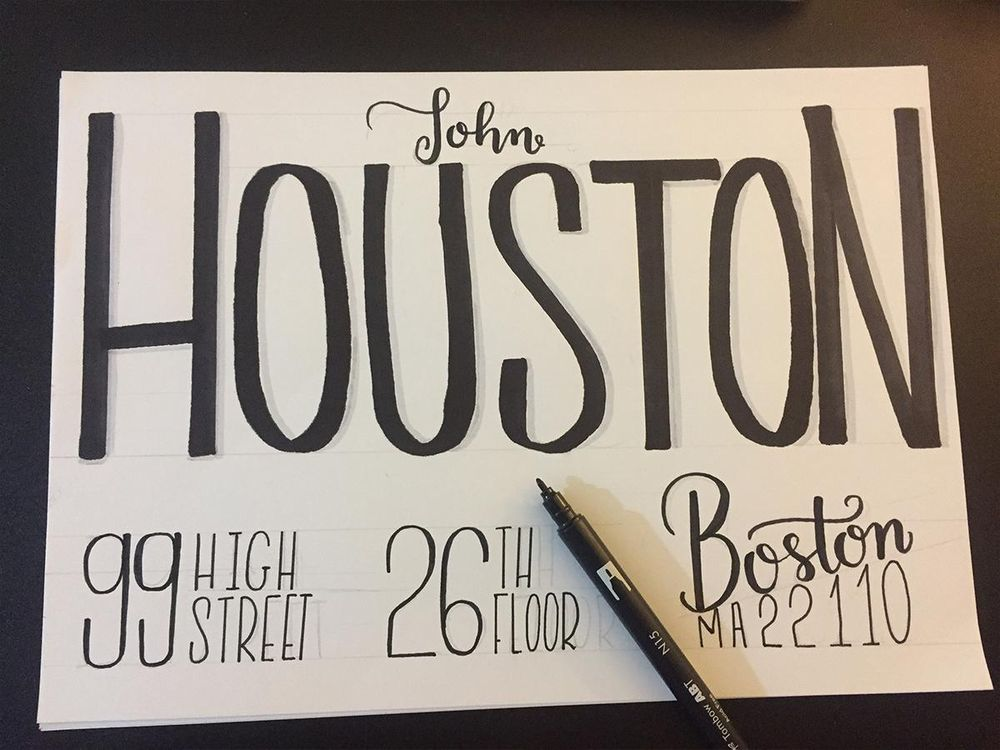 Houston's envelope - image 5 - student project