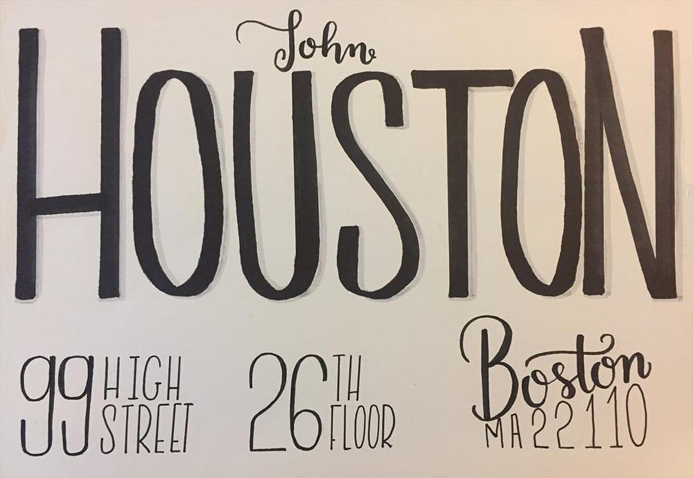 Houston's envelope - image 6 - student project