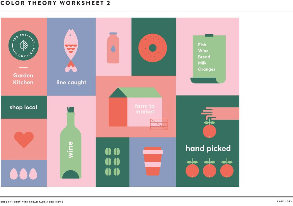 Colour Theory Worksheets - image 3 - student project