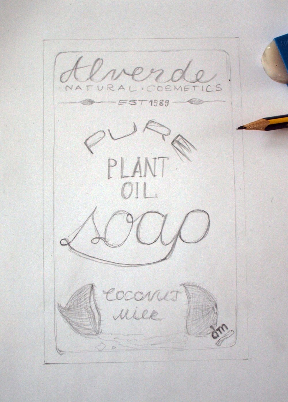 """Alverde-Label from """"dm"""" - image 6 - student project"""