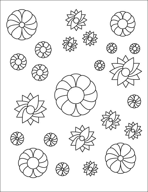 Floral Coloring Page - image 1 - student project