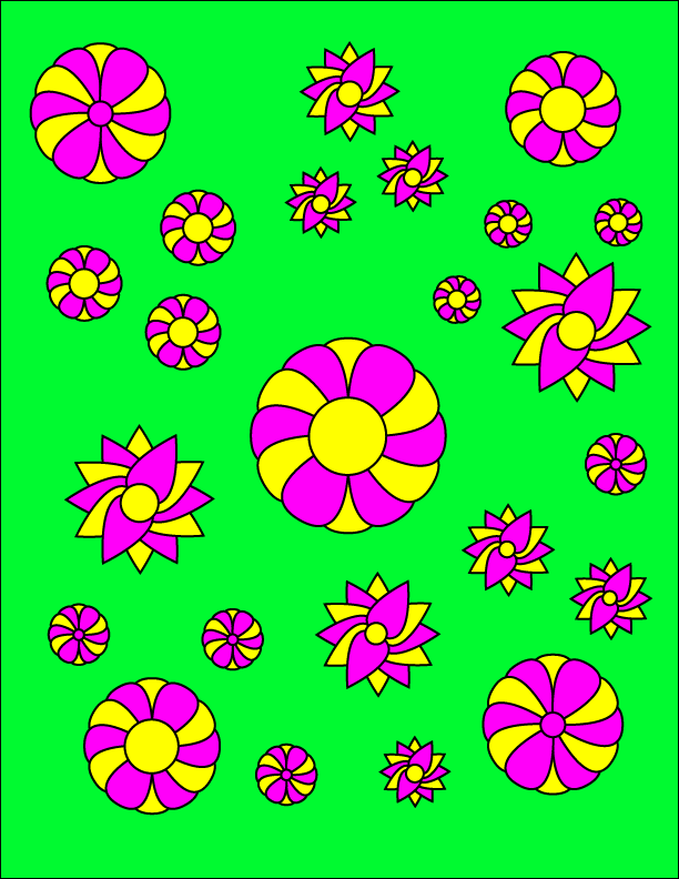 Floral Coloring Page - image 2 - student project