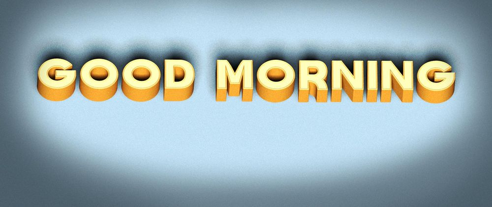 GOOD MORNING - image 1 - student project