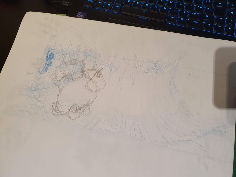 Willie Wombat travels through the magic tunnel... - image 9 - student project
