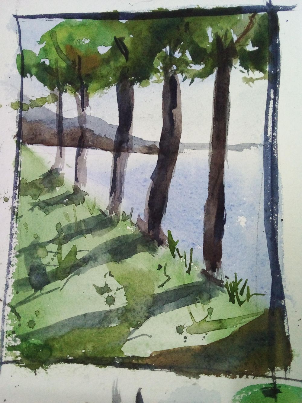 Easy watercolor painting - image 5 - student project