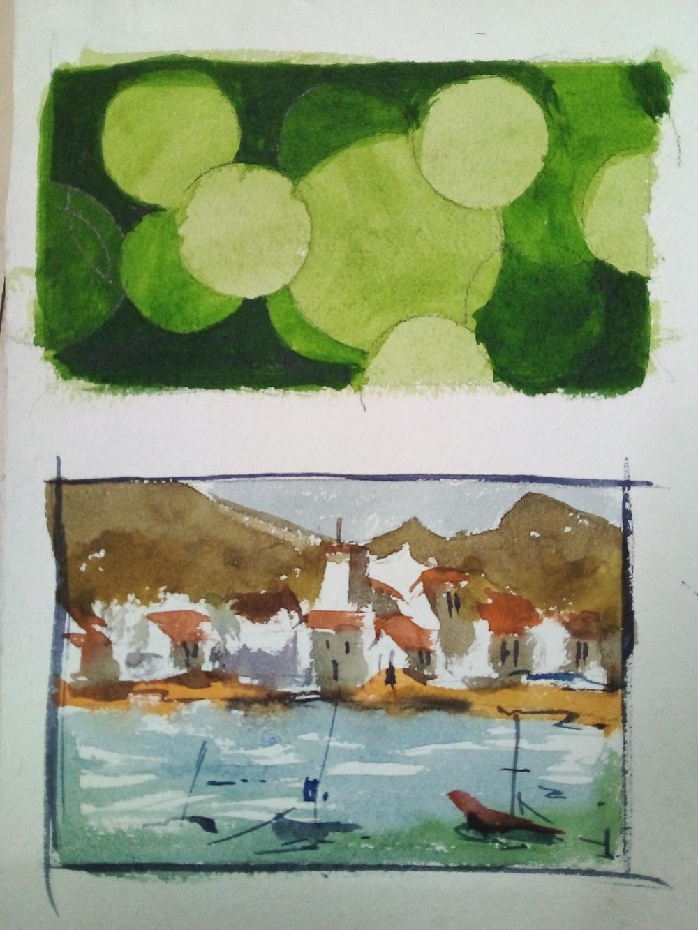 Easy watercolor painting - image 4 - student project