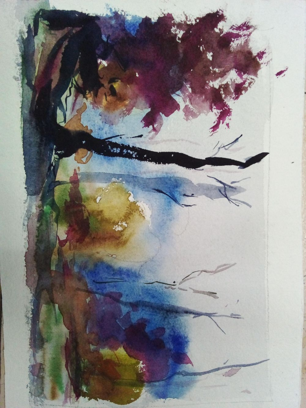 Easy watercolor painting - image 9 - student project