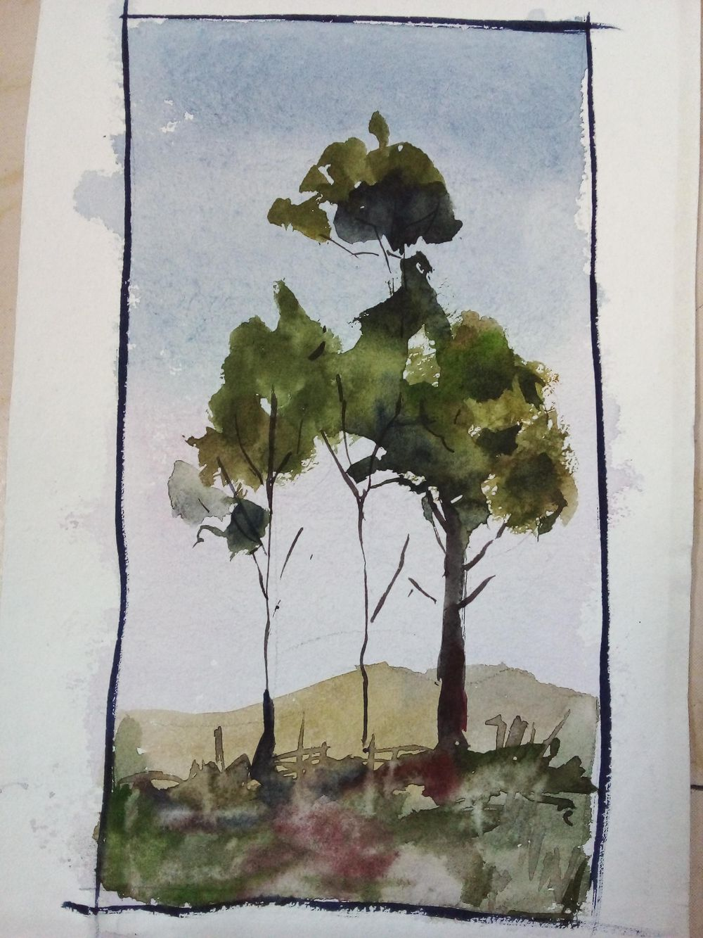 Easy watercolor painting - image 6 - student project