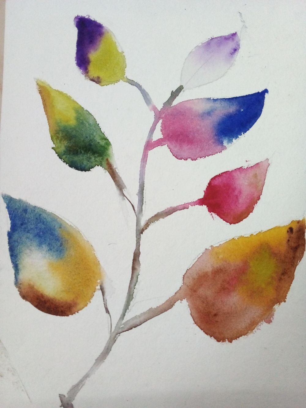 Easy watercolor painting - image 8 - student project