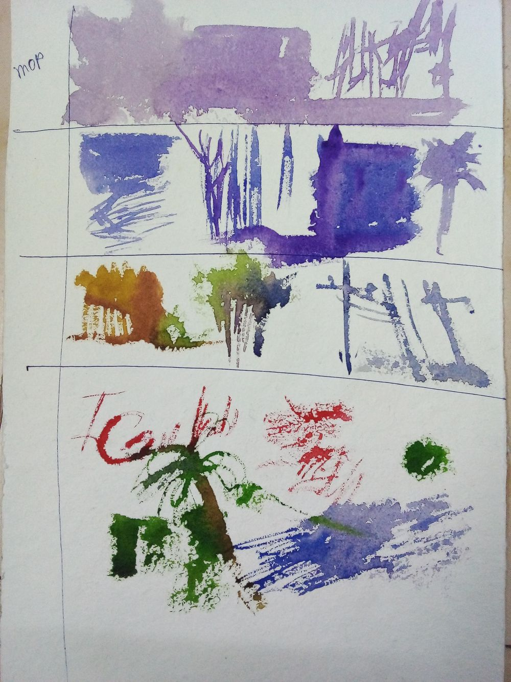 Easy watercolor painting - image 11 - student project