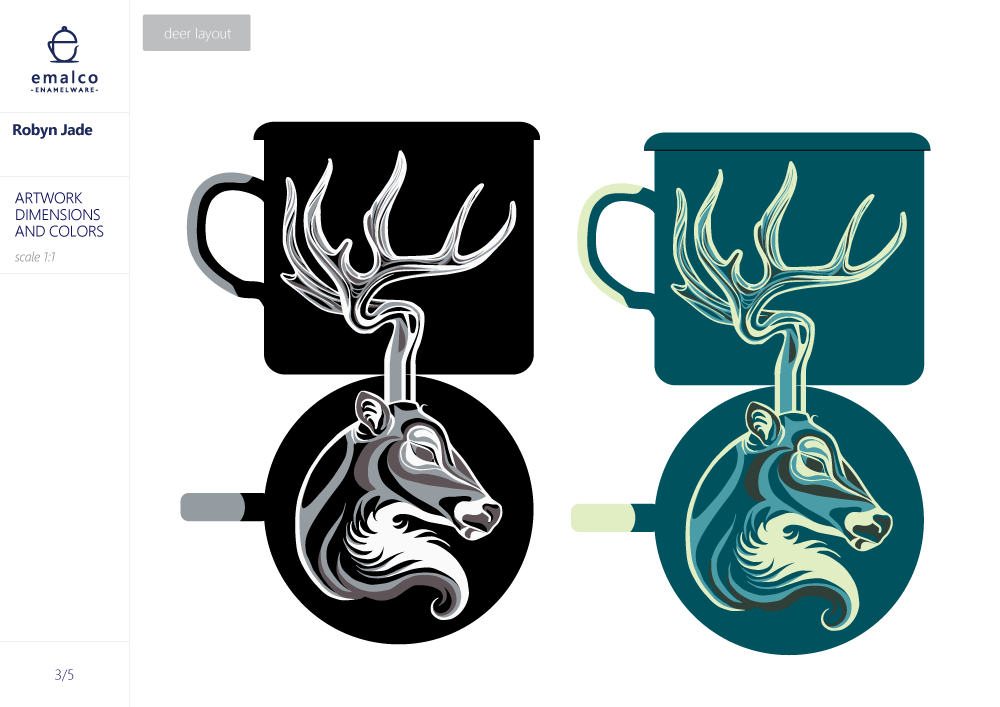 Loon and Deer - image 5 - student project
