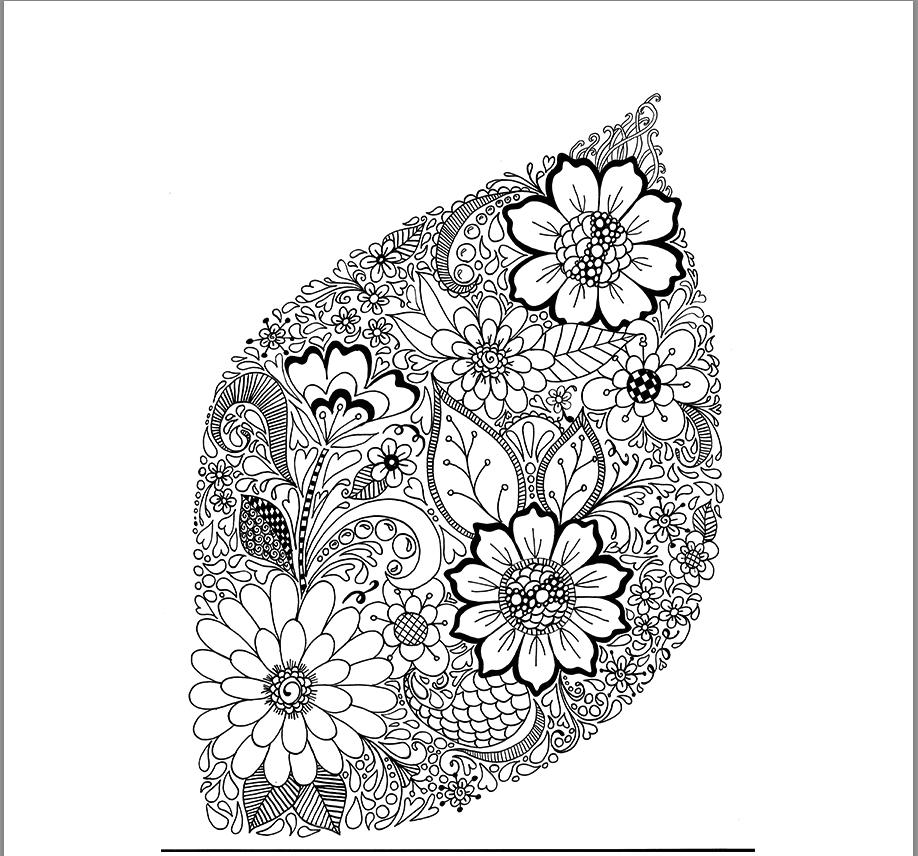 Floral Leaf Linework - image 1 - student project