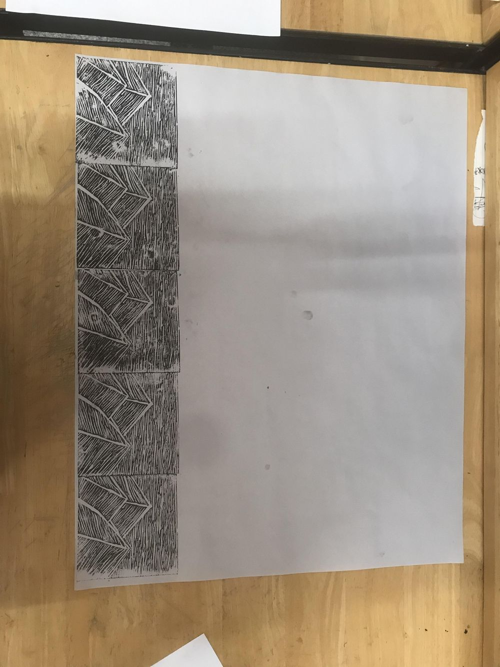 Lino cut Mountains - image 2 - student project