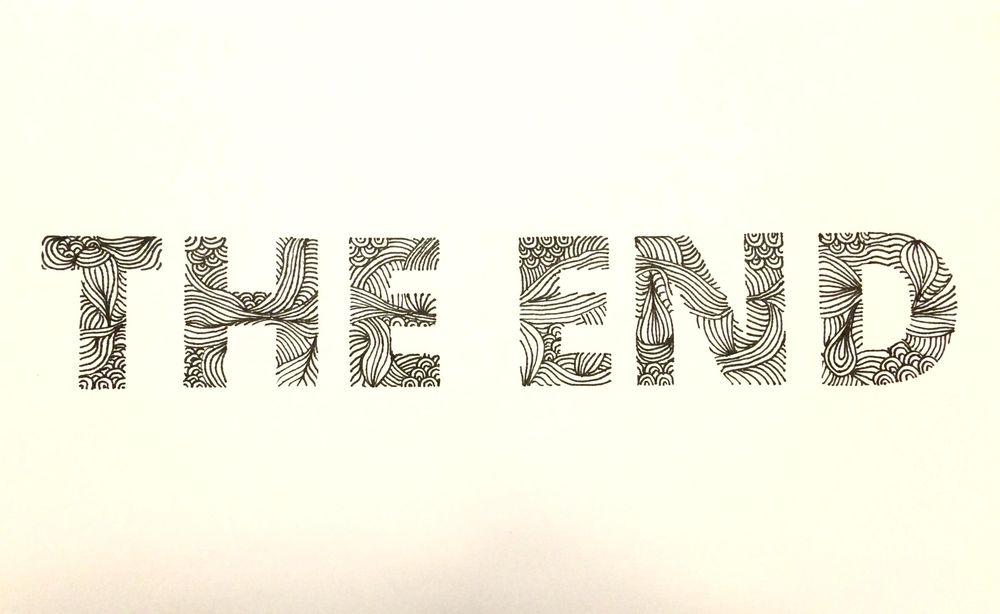 The End Doodle Font - image 1 - student project