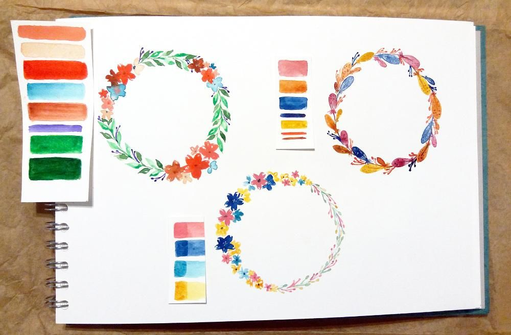 Colorful Wreaths - image 1 - student project