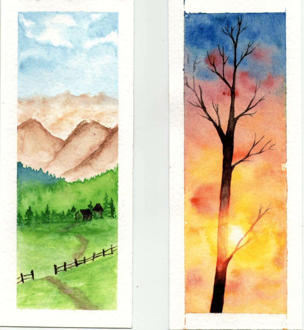 Landscape bookmarks - image 1 - student project